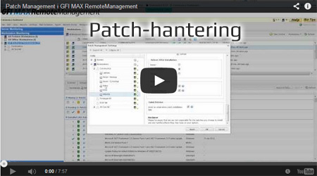 Patchning video i Solarwinds MSP Remote Monitoring & Management.  Logicnow MAX Remote monitoring & Management