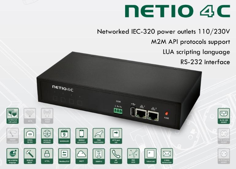 Netio 4C - PDU Switched & ManagedNetio_4C_Euro